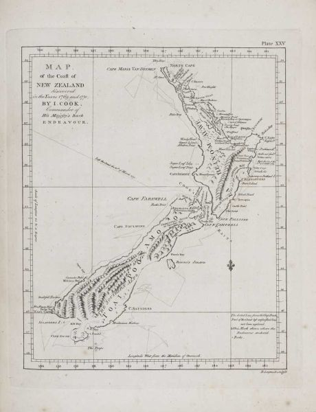 Map of the Coast of New Zealand