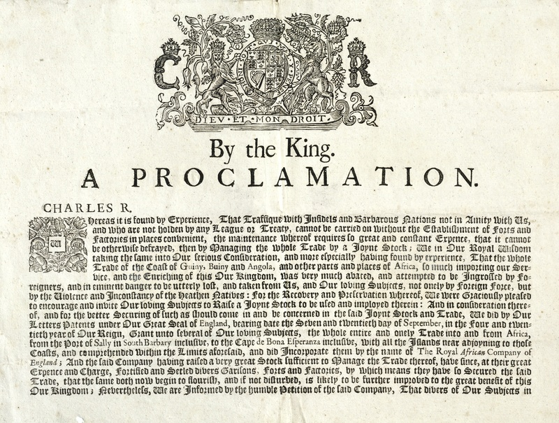 By the King A Proclamation