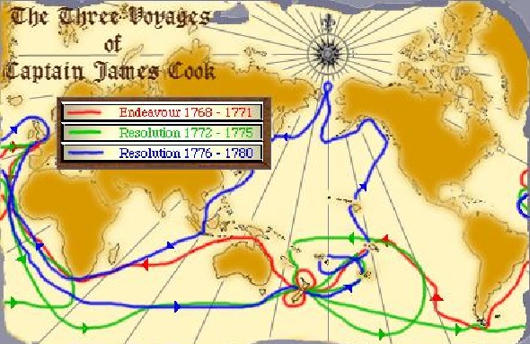 The Three Voyages of Captain James Cook
