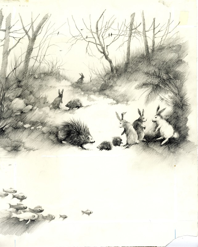 Stephen Gammell - Terrible Things (inside page)