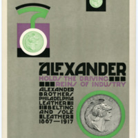 Alexander: Holds the Driving Reins of Industry