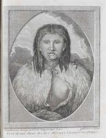 Eine Iunge Frau aus den Konigin Charlotten Inseln