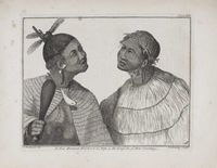 A New Zealand Warrior and his Wife, in the Dress of that Country